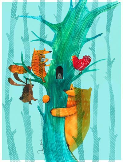 bear-rabbit-fox-tree-jpg