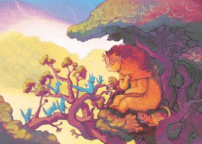 forest-tree-spirits-lion-creature-jpg